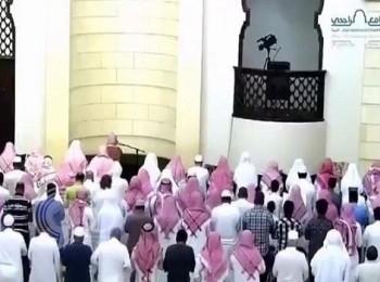 بالفيديو : مؤذن جامع الراجحي بالرياض يبدل مع الإمام في وسط الصلاة وصوته يثير إعجاب المغردين