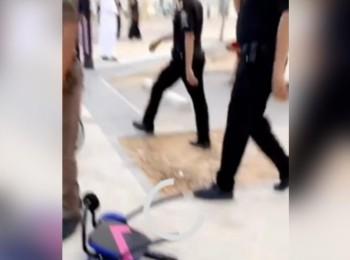شاهدوا تفاصيل القبض على شخص تهجم على موظفة أمن