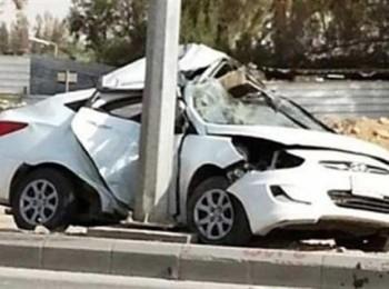 اصطدام سيارة بعمود إنارة يُخلف إصابات في صبيا