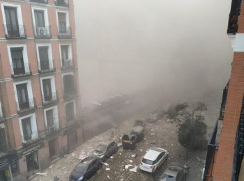 شاهد.. انفجار قوي يهز وسط العاصمة الاسبانية مدريد.. ورئيس البلدية يكشف السبب