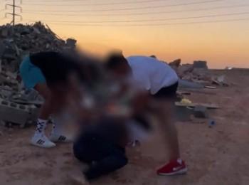 بيان أمني بشأن 4 مواطنين نشروا مشهد احتجاز وسكب مادة سريعة الاشتعال على أحدهم