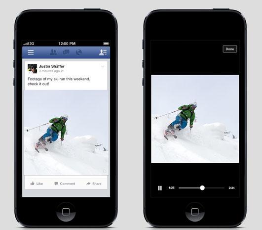 فيس بوك يختبر طريقة جديدة لعرض الفيديو على الهواتف الذكية