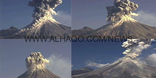 شاهد: لحظة اندلاع بركان النار في المكسيك