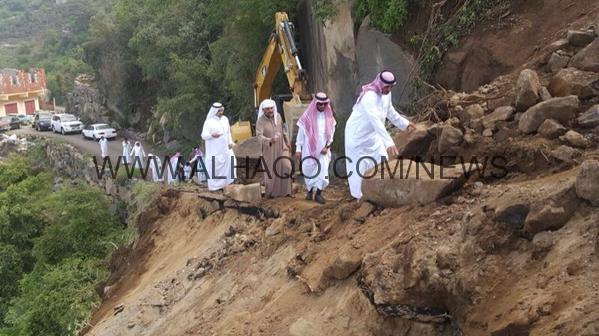 بالصور … لجنة حصر أضرار أمطار فيفاء تباشر مهامها