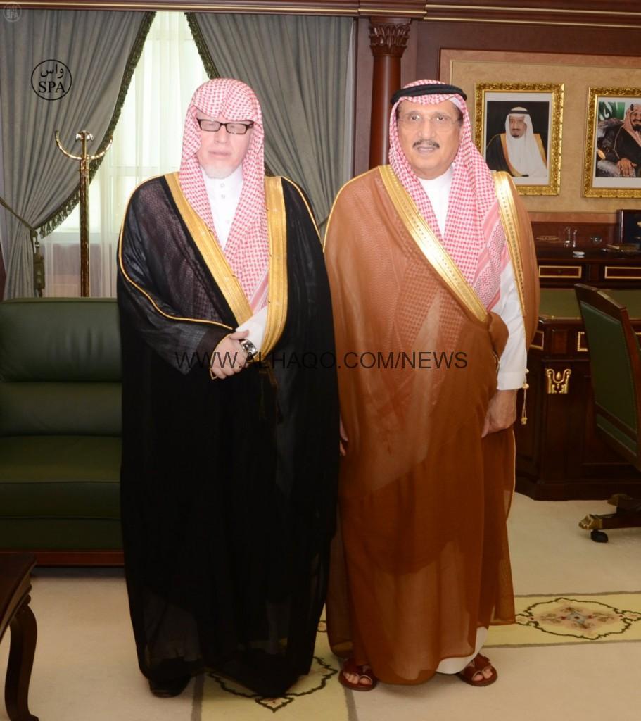 أمير منطقة جازان يستقبل رئيس الدائرة الجزائية بالمحكمة الإدارية بجازان