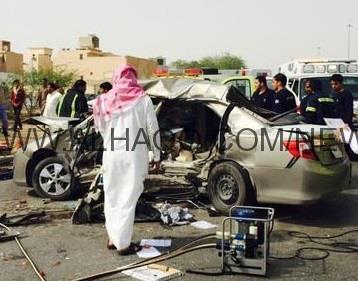 بالصور .. وفاة وإصابة 9 إثر حادث مروري على مخرج 24