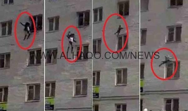 فيديو: امرأة تلقي أطفالها من الطابق الرابع لإنقاذهم من الحريق
