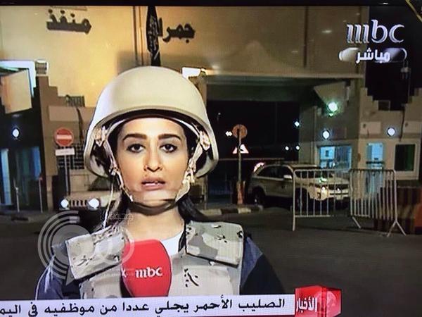 """بالصور.. الحداوي أول مذيعة سعودية تغطي """"عاصفة الحزم"""" ميدانياً من أرض الحدث"""