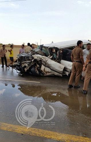مدني بيش ينقذ ثلاثه محتجزين على طريق العالية