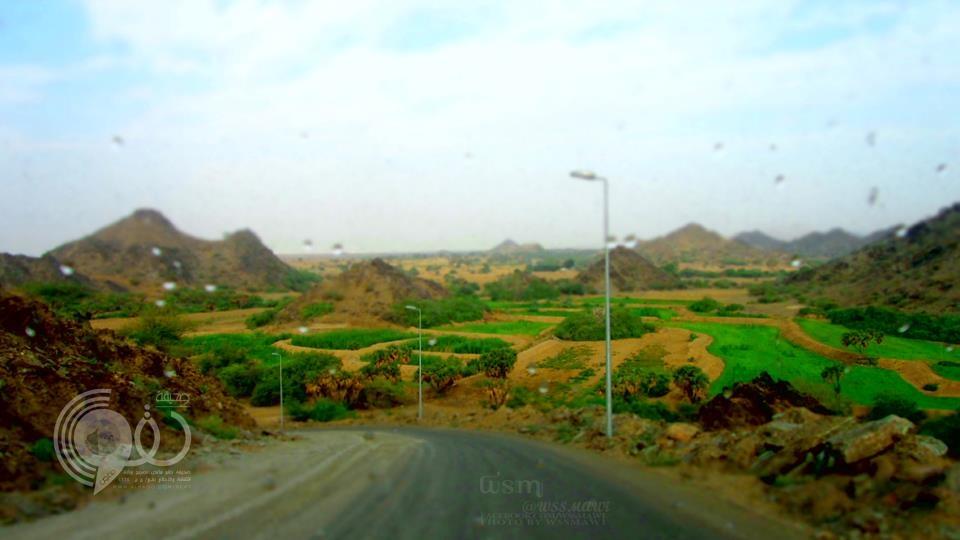 صورة للمناظر الطبيعية التي بجانب جبل ماغص