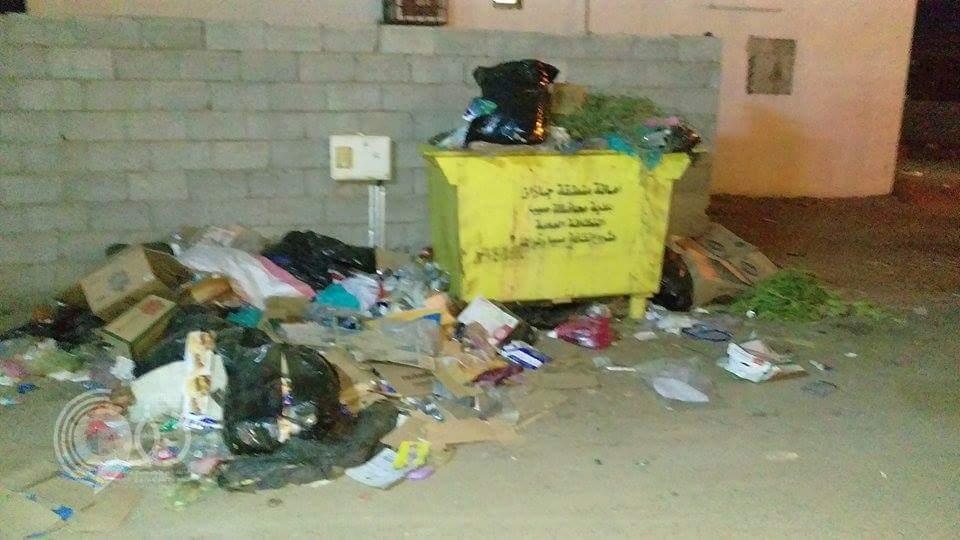 قرية قائم الدش بجازان تعانى من تدني مستوى النظافة