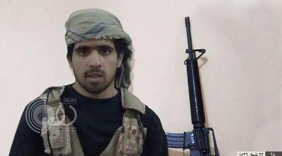 """""""داعش"""" ينشر صورة الانتحاري الهالك منفذ الجريمة الإرهابية بعسير"""