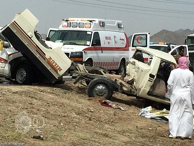 مصرع وإصابة 7 أشخاص إثر حادثين مرورية بمكة المكرمة