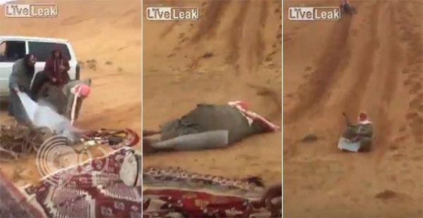 فيديو: تزلج سعودي على الرمال ينتهي بكارثة