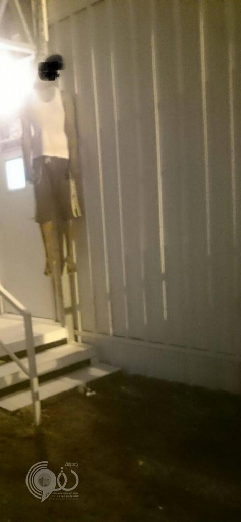 (صورة) : مقيم ينهي حياته شنقاً بالمدينة الاقتصادية بمحافظة بيش