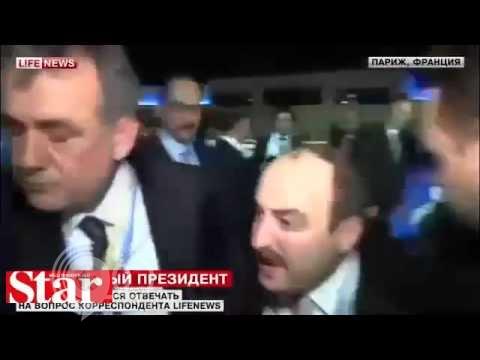 "شاهد كيف تصرّف أردوغان مع صحفي روسي سأله عن ""داعش"" .. ""فيديو"""