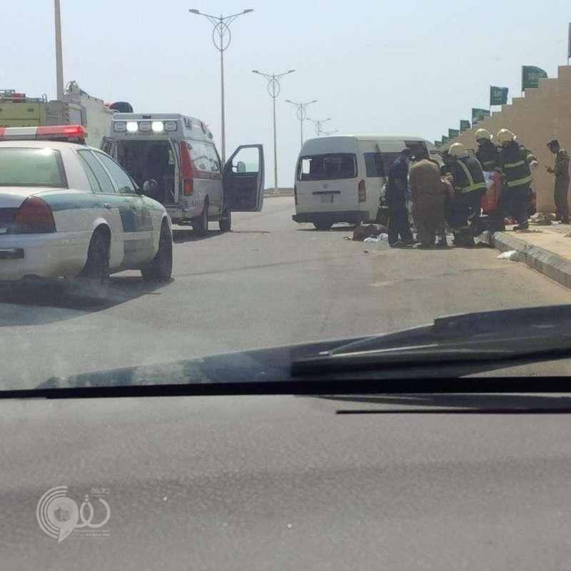 إصابة ٥ طالبات بجامعة جازان إثر حادث مروري