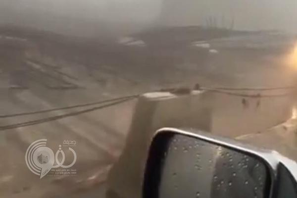 فيديو: انهيار جسر تحت الإنشاء على طريق الملك عبدالله بأبها