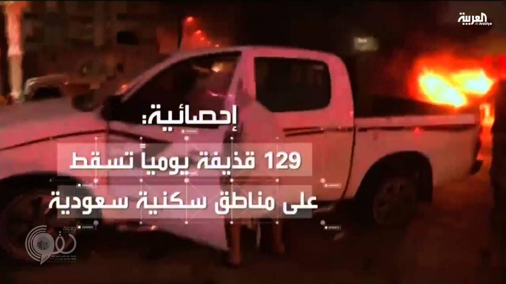 فيديو يوثق لحظة استهداف المقذوفات الحوثية لحي سكني بالطوال