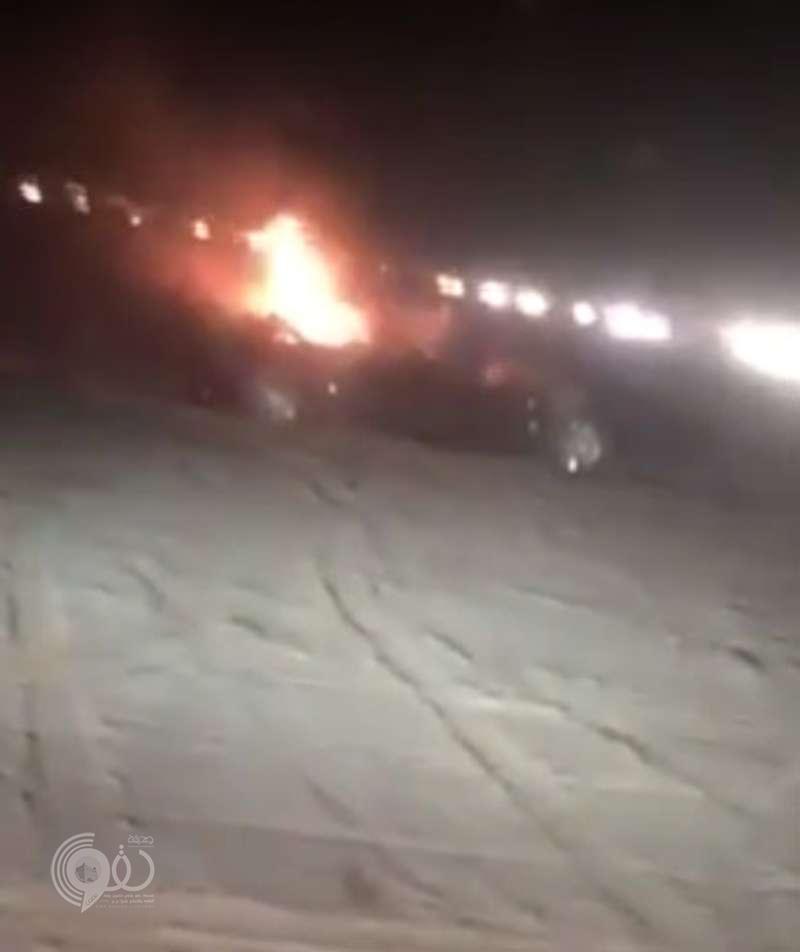 بالفيديو : مواطن ينقذ طفلة من حريق بعد وفاة والديها