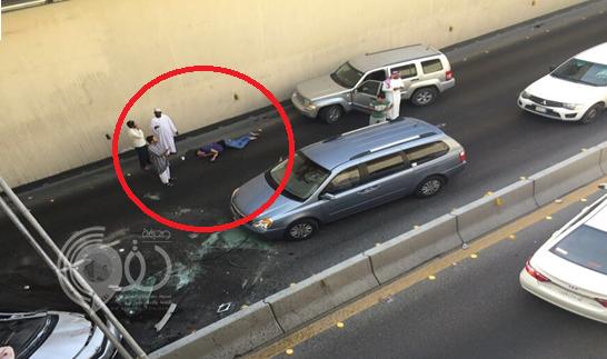 بالفيديو.. شاهد سقوط سيارة من أعلى كبري الملك فهد بالدمام