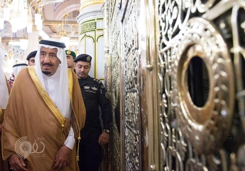 بالصور و الفيديو: خادم الحرمين يزور المسجد النبوي