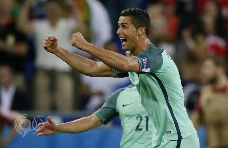 رونالدو يعادل رقم بلاتيني كأفضل هداف في تاريخ كأس أوروبا