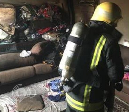 حريق يقتل طفلة ويصيب عاملة منزلية في بريدة