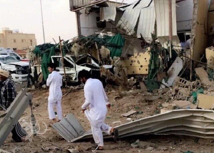 بالصور.. سقوط مقذوفات على نجران يخلف 3 إصابات
