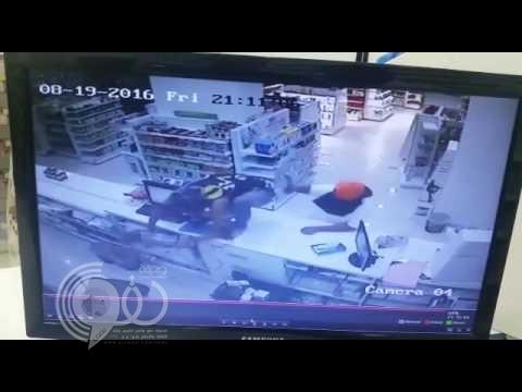 بالفيديو : مقنعون يسطون على صيدلية وشرطة جدة تطيح بهم