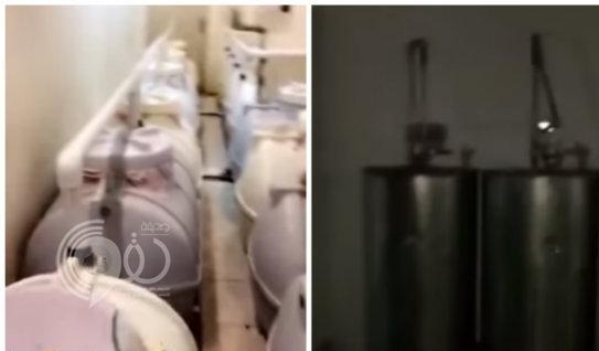 """شاهد الدوريات الأمنية تداهم أكبر مصنع خمور في الرياض .. """"فيديو"""""""