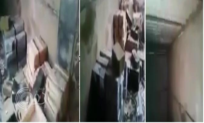 بالفيديو: لحظة عثور الجيش اليمني على مخزن أسلحة مليشيا الحوثي والمخلوع في صعدة