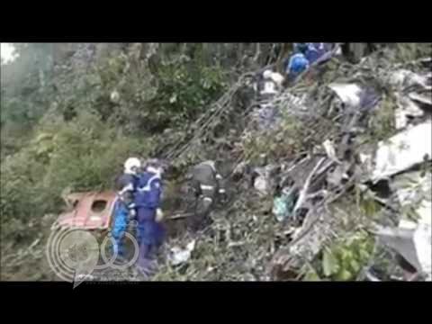 فيديو يوثق لحظة تحطم طائرة فريق تشابيكوينسي البرازيلي التى راح ضحيتها 81 شخصاً