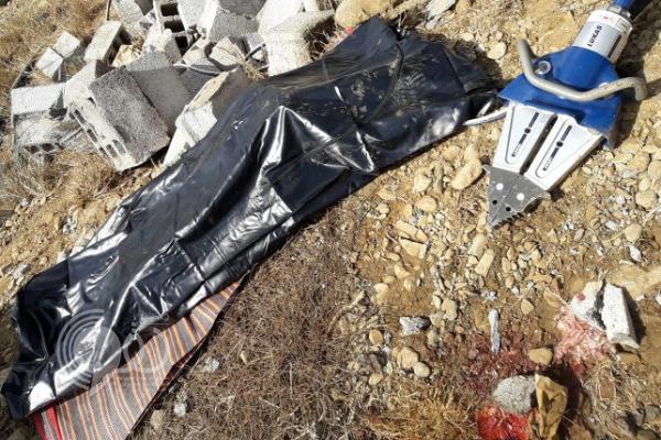"""بالصور : مصرع مجهول وإصابة مواطن في انهيار خزان بـ""""هروب"""""""