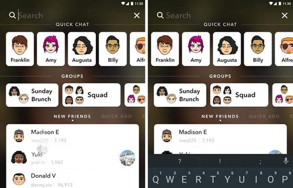 سناب تطلق ميزة البحث عن أصدقاء جدد داخل التطبيق