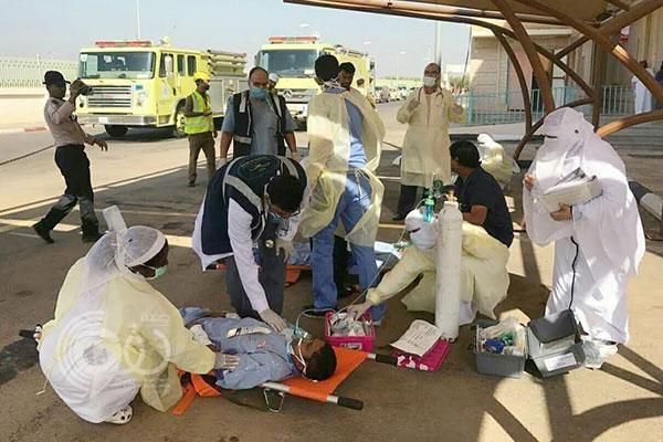 """مصرع وإصابة 6 أشخاص في """"حريق وهمي"""" بمستشفى أبو عريش"""