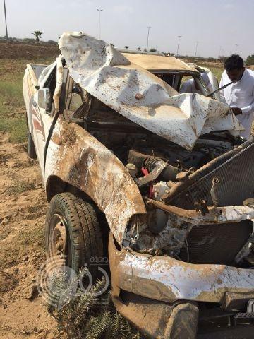 وفاة طالب وإصابة اثنين آخرين في حادث بمسارحة جازان