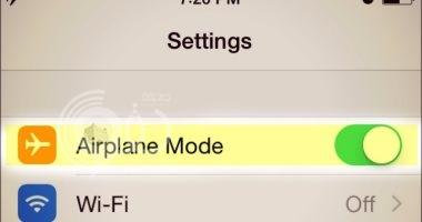 تعرف على ما يحدث لهاتفك عند تشغيل وضع الطيران