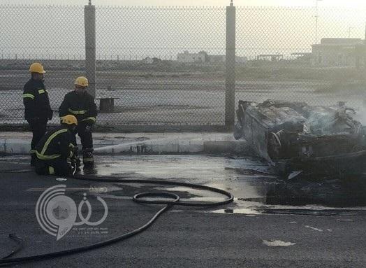 مصرع وإصابة 6 فى حادث مروع لثلاث مركبات في جازان .. صور