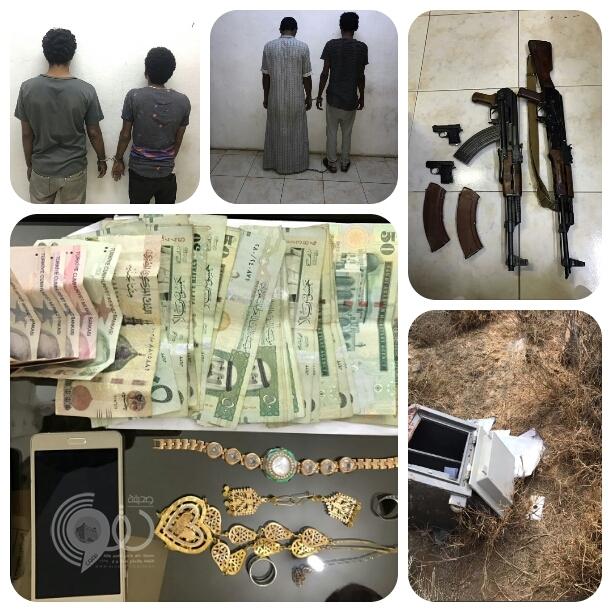بالصور : فك لغز سرقات محافظة العيدابى .. وشرطة جازان تٌطيح بالجناة