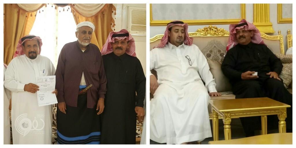 أمير منطقة جازان يعزي شيخ شمل قبائل الحقو وشيخ قبيلة النهارية بمركز الحقو