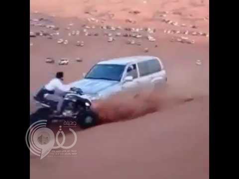 """شاهد نهاية مأساوية لسائق دباب أثناء """"التطعيس"""""""
