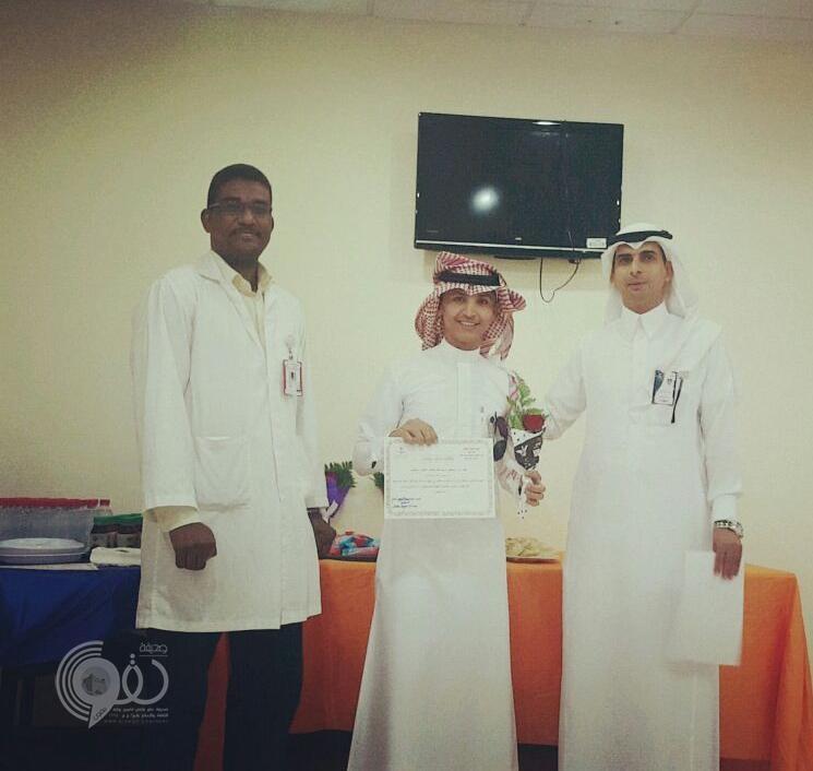 إدارة مستشفى الريث العام تشكر الأستاذ حسين أحمد أبو حاوي