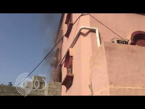 مدني بيش يباشر حريق باحد المنازل بمركز الحقو ولا اصابات – فيديو وصور