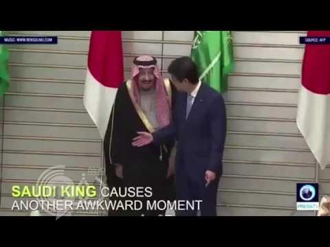 فيديو: موقف طريف بين الملك سلمان ورئيس وزراء اليابان