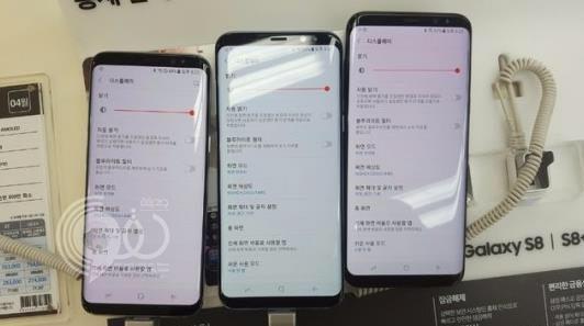 شكاوى أصحاب بعض هواتف جالكسي إس 8 من إحمرار الشاشة