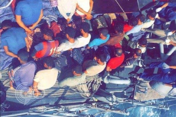 بالفيديو والصور : البحرية السعودية تطيح بحوثيين وسط بحر جازان