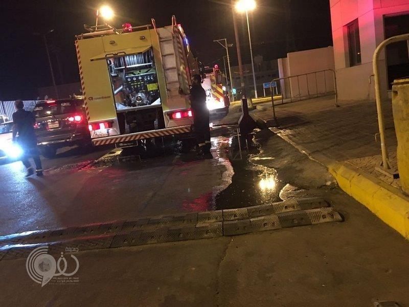 موقوف يشعل النار في قسم شرطة بمنطقة تبوك ويصيب 4 أشخاص