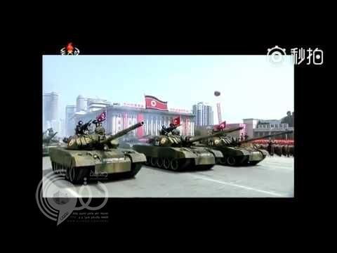 بالفيديو.. احتراق دبابة في استعراض عسكري ضخم أمام زعيم كوريا الشمالية