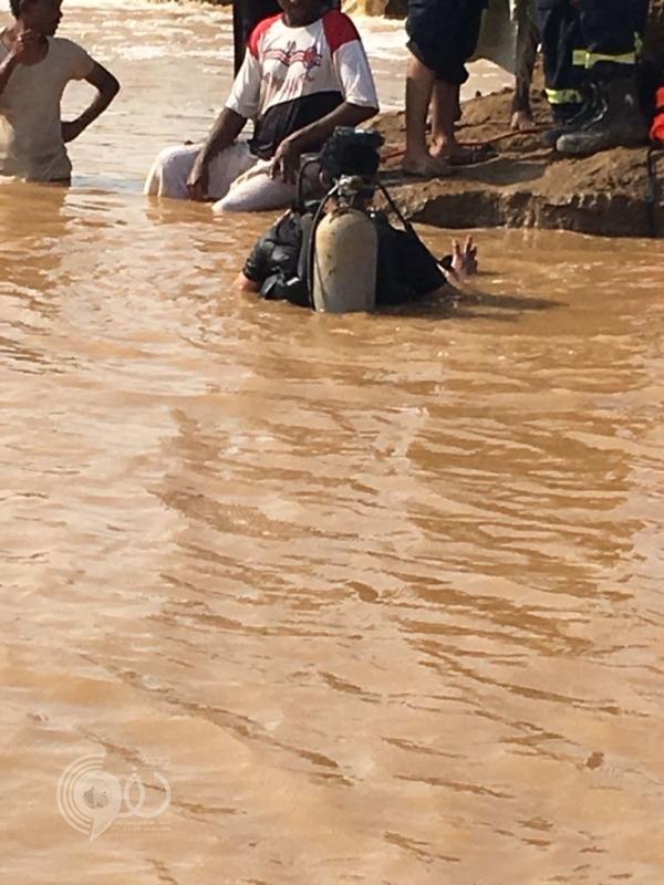 عاجل .. انتشال جثة يمني غرق بسيول وادي شهدان في صبيا